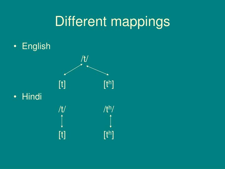 Different mappings