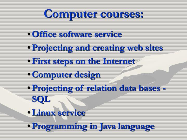 Computer courses: