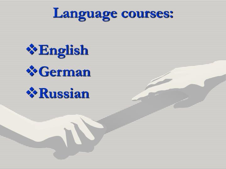 Language courses: