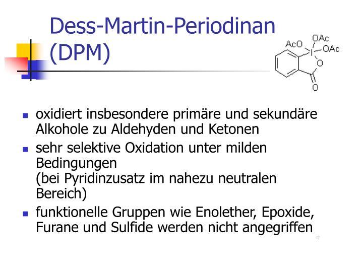 oxidiert insbesondere primäre und sekundäre Alkohole zu Aldehyden und Ketonen