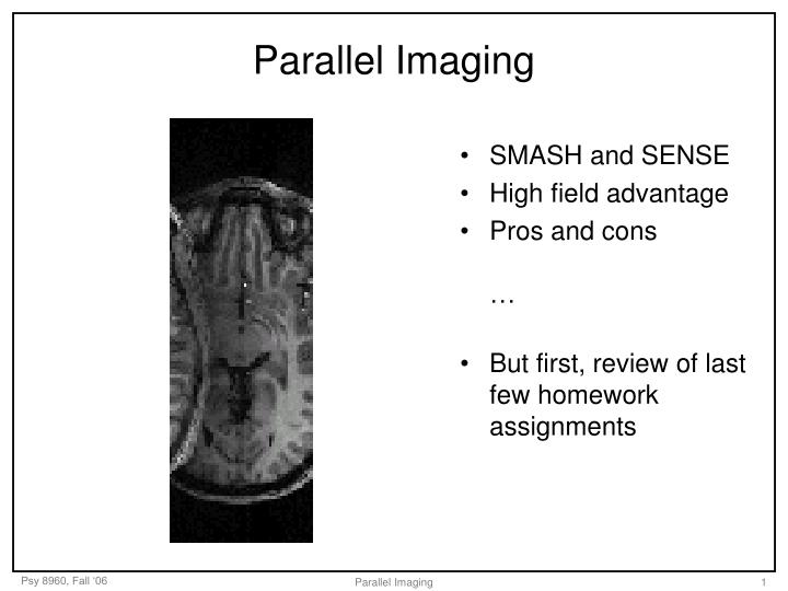 Parallel imaging