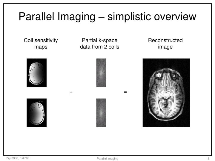 Parallel imaging simplistic overview