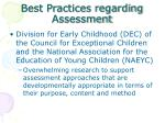 best practices regarding assessment