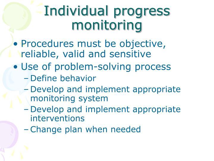 Individual progress monitoring