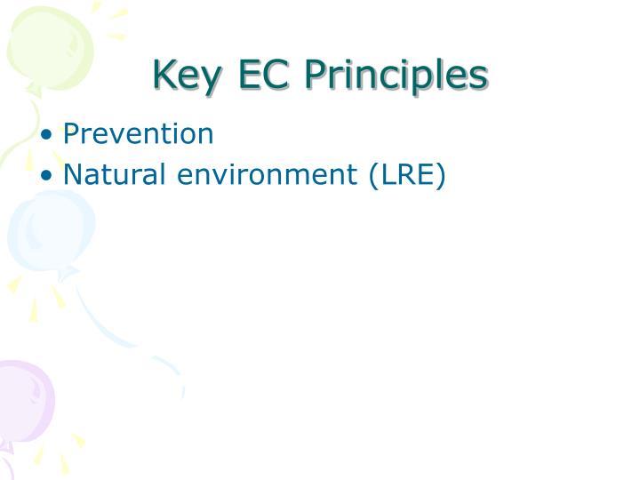 Key EC Principles