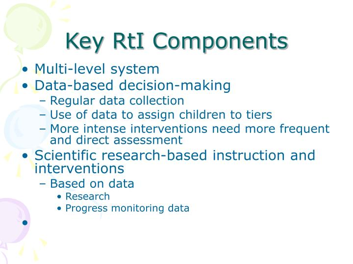 Key RtI Components