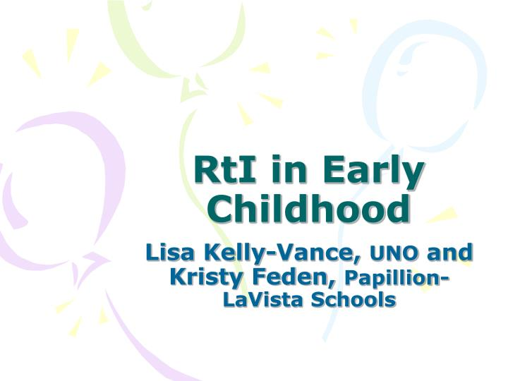 rti in early childhood