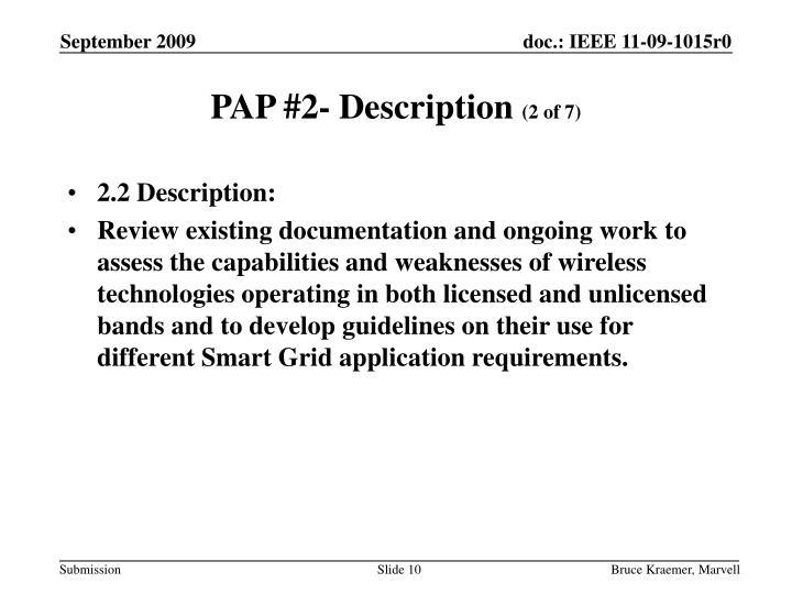 PAP #2- Description
