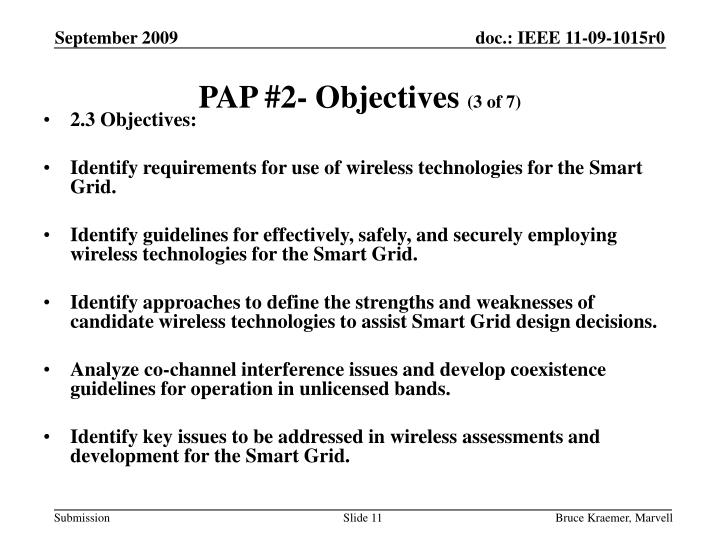 PAP #2- Objectives