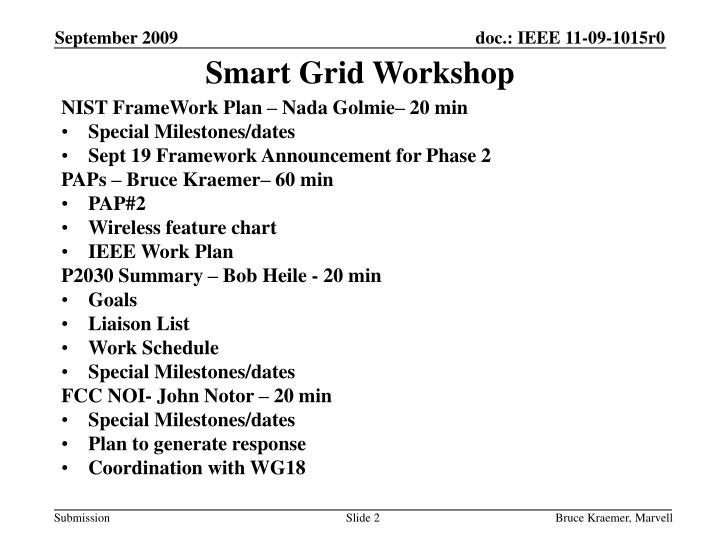 Smart Grid Workshop