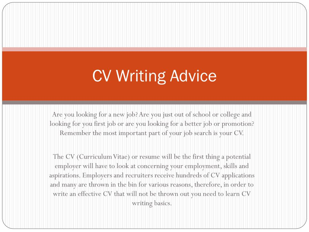 CV Writing Advice
