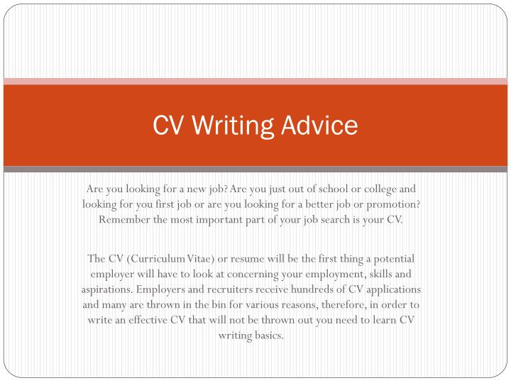 Cv writing advice2