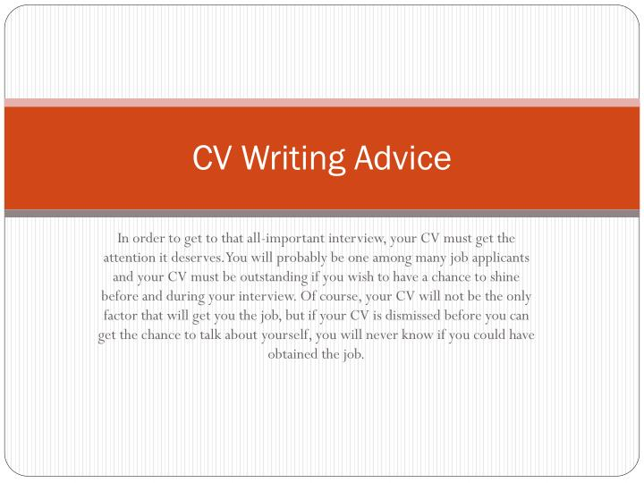Cv writing advice3