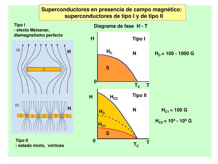 Superconductores en presencia de campo magnético: