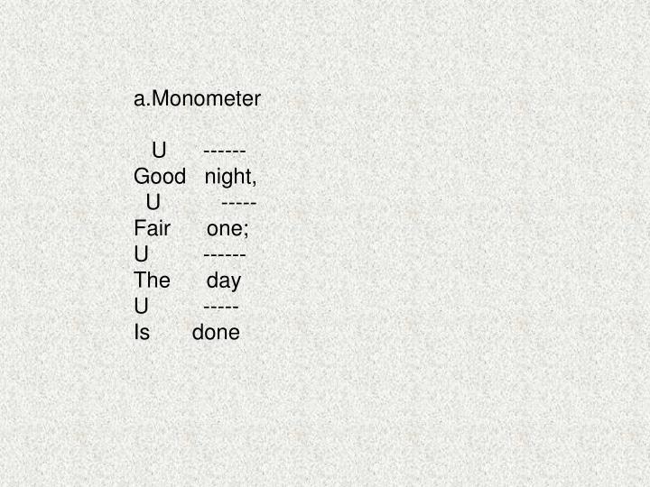 a.Monometer