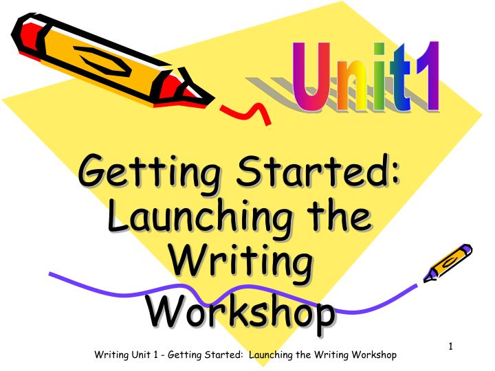 Getting started launching the writing workshop