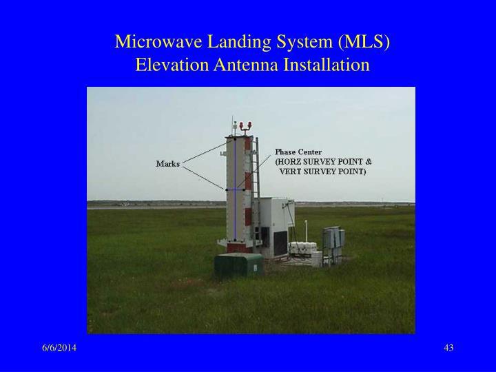 Microwave landing system