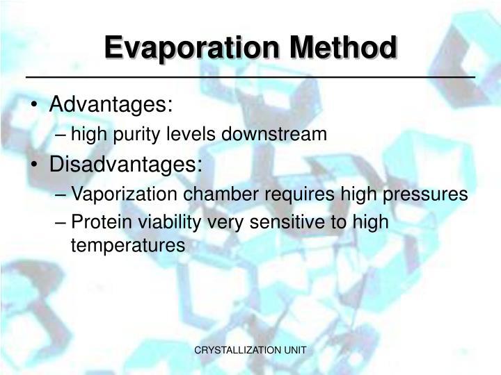 Evaporation Method