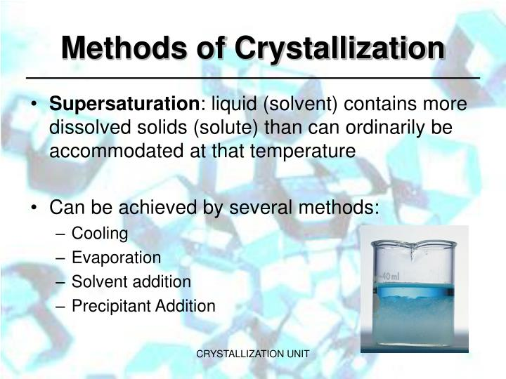 Methods of Crystallization