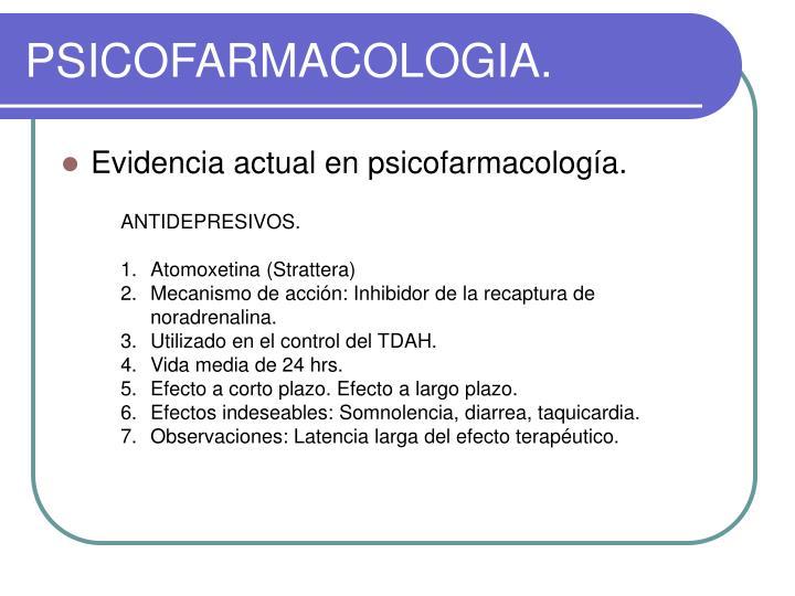 PSICOFARMACOLOGIA.