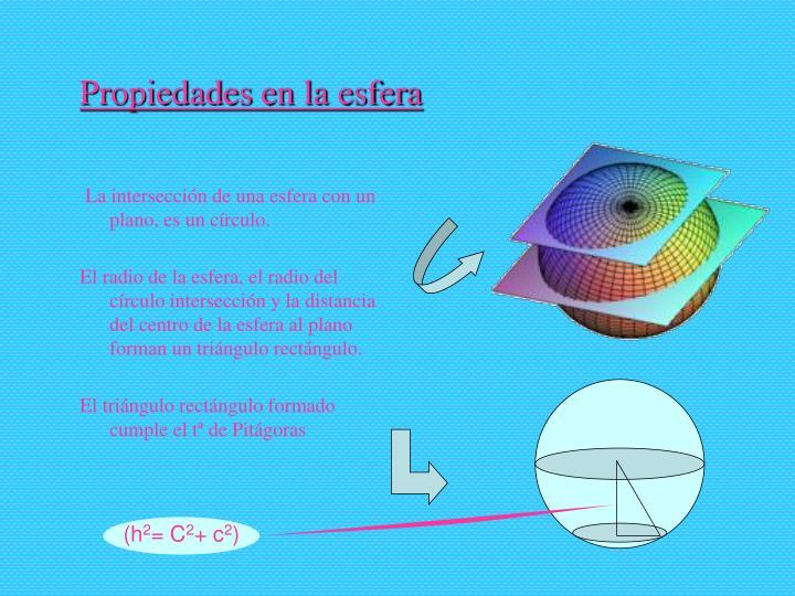 Propiedades en la esfera