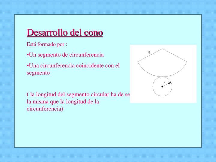 Desarrollo del cono