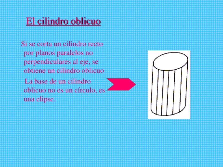 El cilindro oblicuo