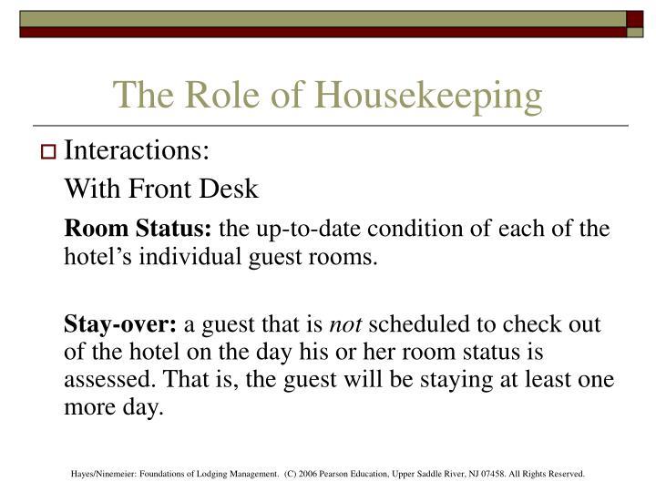 Housekeeping Department Duties