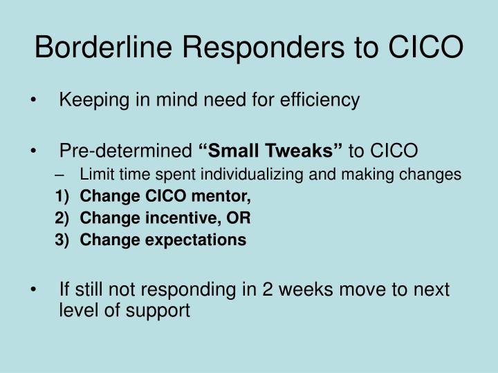 Borderline Responders to CICO
