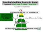 designing school wide systems for student success universal primary prevention