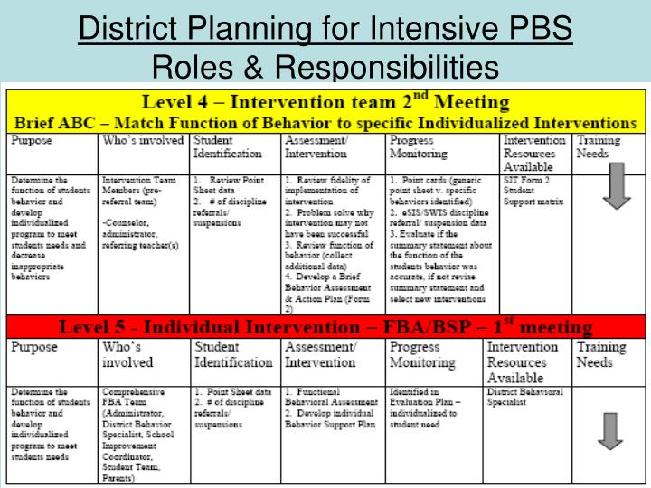 District Planning for Intensive PBS
