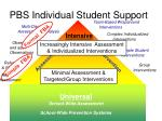 pbs individual student support