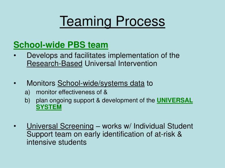 Teaming Process