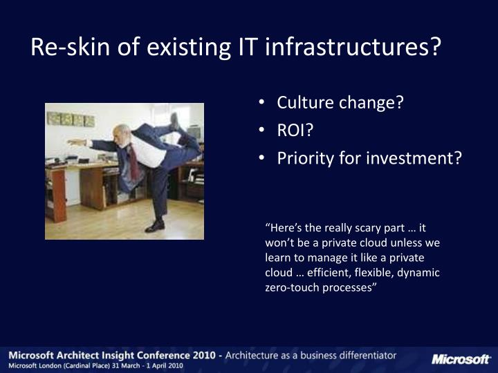 Re-skin of existing IT infrastructures?