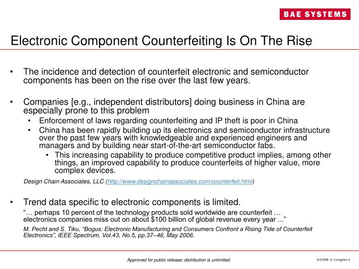 Electronic Component Counterfeiting Is On The Rise