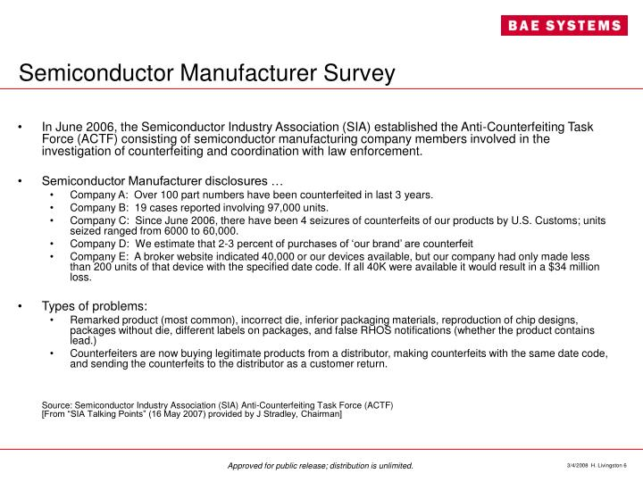 Semiconductor Manufacturer Survey