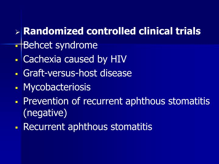 Randomized controlled clinical trials