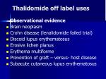 thalidomide off label uses