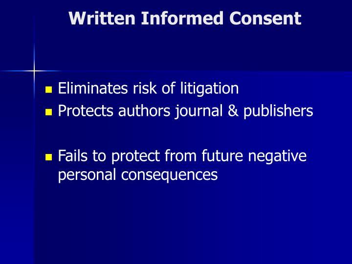 Written Informed Consent
