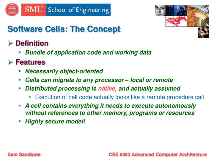 Software Cells: The Concept