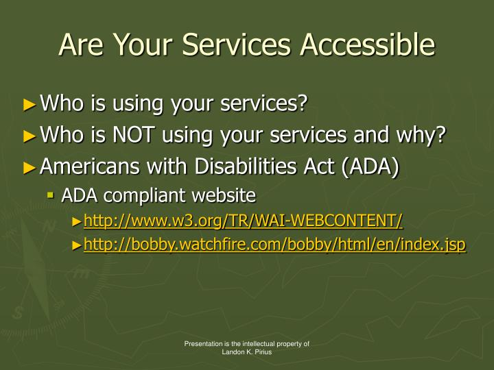 Are Your Services Accessible