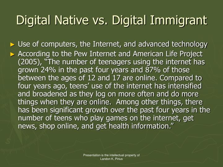 Digital Native vs. Digital Immigrant
