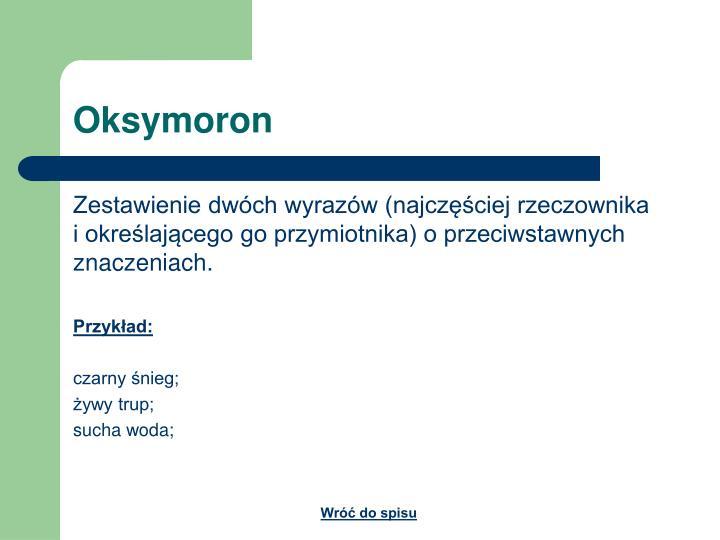 Oksymoron