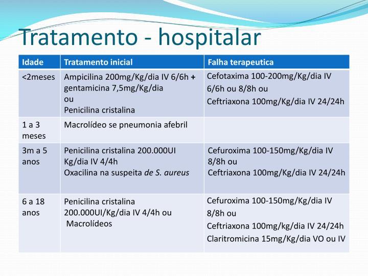 Tratamento - hospitalar