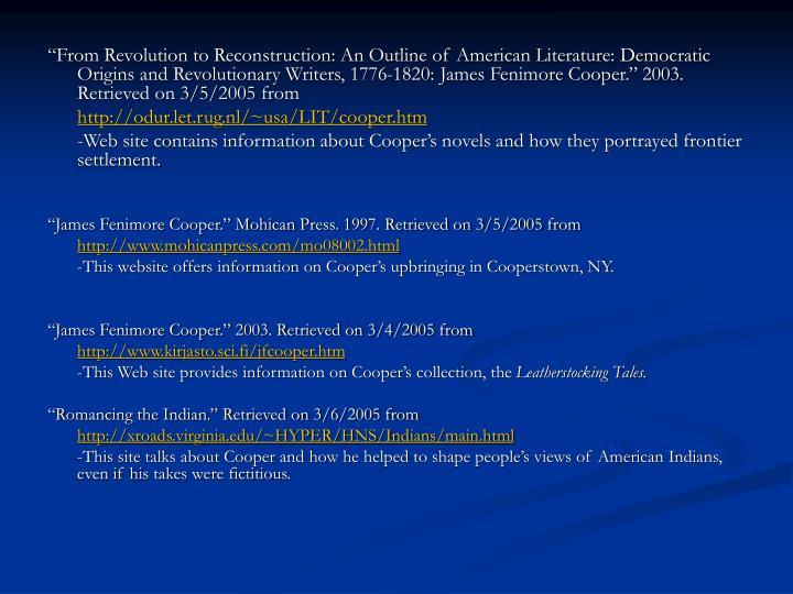 democratic origins and revolutionary writers 1776 1820
