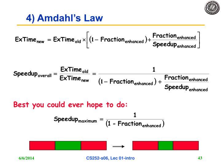 4) Amdahl's Law