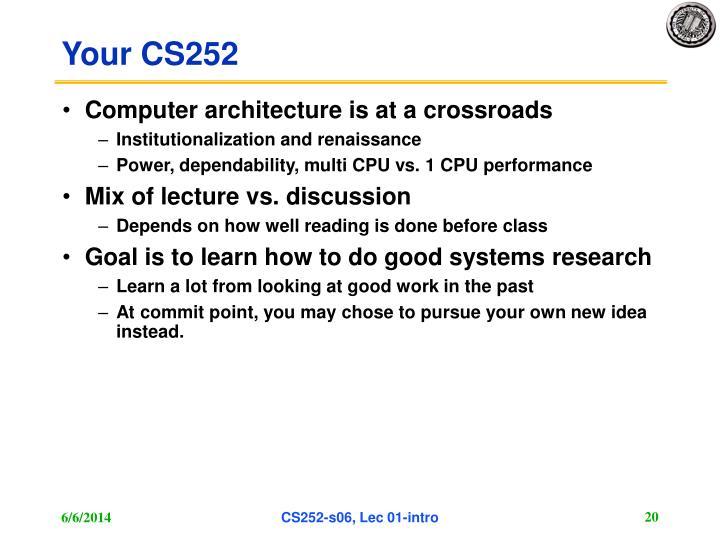 Your CS252