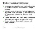 fully dynamic environments