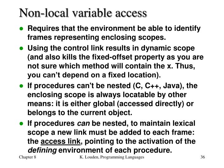 Non-local variable access