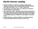 one bit reference counting